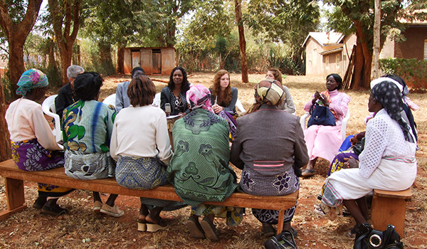 P. Kako and students conducting focus group in Kenya