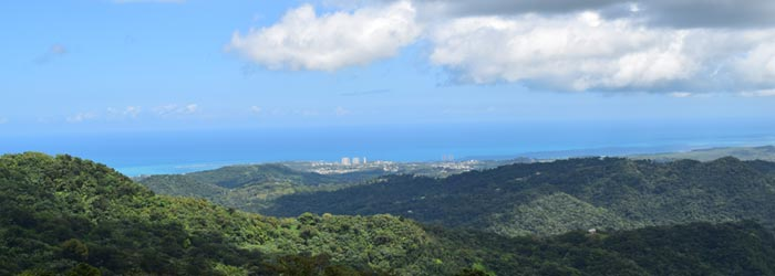 View from El Yunque, Puerto Rico
