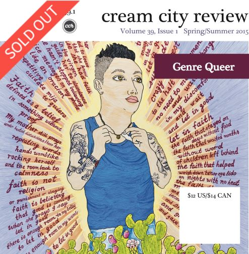 Photo of cover of Cream City Review Issue 39.1 (sold out)