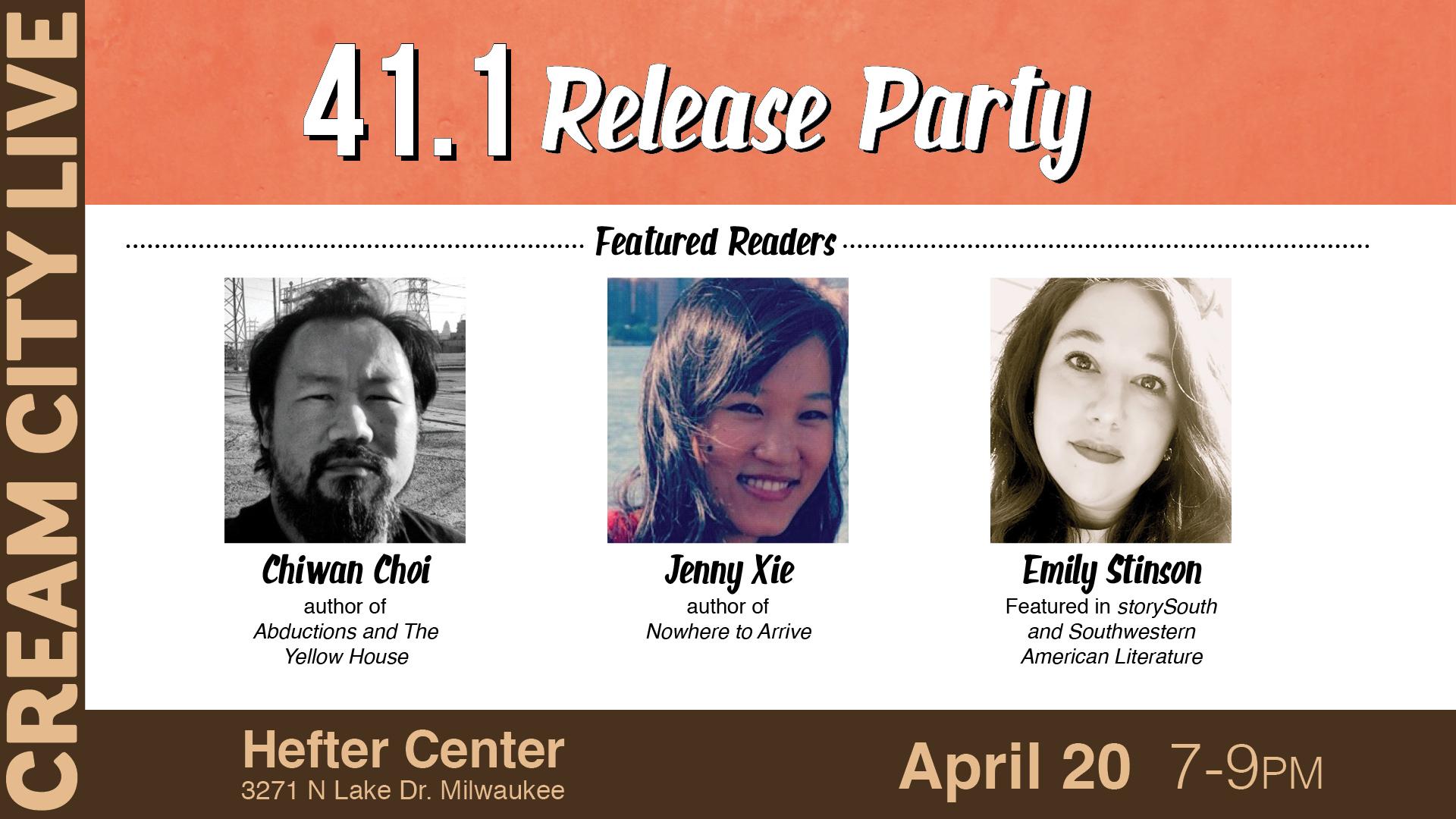 cream city Live! April 20th, 7:00pm