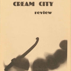 Photo of cover of Cream City Review Issue 1.1