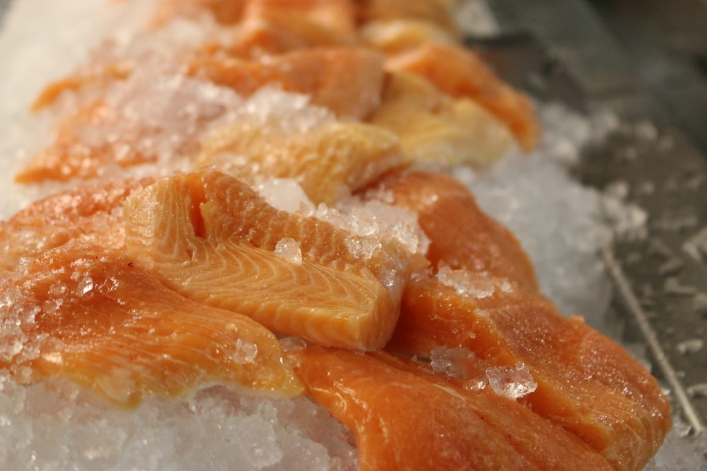 Fresh Salmon over Ice