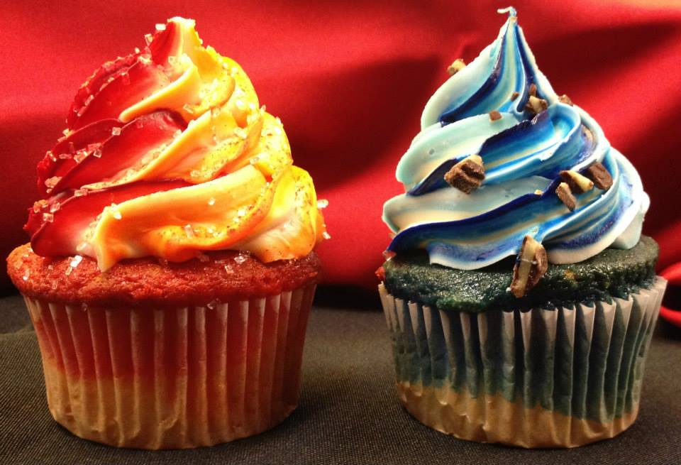 Fire and Ice Cupcakes