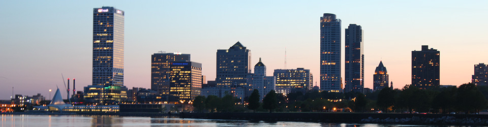 Image of downtown Milwaukee skyline.