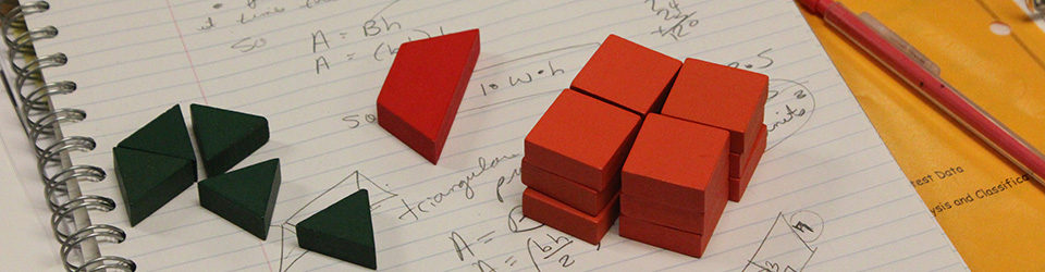 Blocks and statistical formulas.