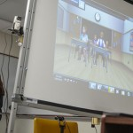 Interactive classroom using TeachLive interactive computer and human-facilitated simulation.