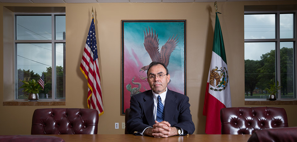 Javier Tapia has been working with the United States and Mexican governments, as well as local nonprofit organizations, to bring a Mexican consulate to Milwaukee. The consulate will provide services to the growing Hispanic community in southeastern Wisconsin.