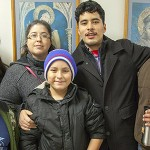 Marcos Cruz and family attending Lathrop Boulevard Neighborhood Assoc. dinner and discussion after.