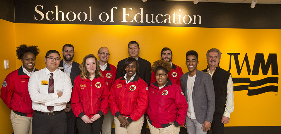 City Year Milwaukee and School of Education group photo.