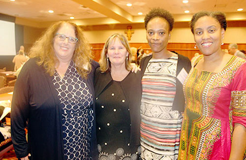 UWM alumni and faculty members: Kimarie Bruessel, Templeton Middle School, Sussex; Nancy Rice, associate professor of teaching and learning; Krishana Robinson, Vel R. Phillips Juvenile Justice School, Wauwatosa; and Elizabeth Drame, professor of teaching and learning. Bruessel and Robinson both received their master's degrees in exceptional education from UWM.