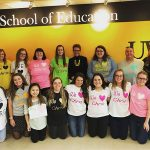 Students display their love for School of Education Senior Lecturer Chris Gwiazdowski.