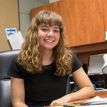 Alyssa Molinski, school of education undergraduate student in Early Childhood Education program.