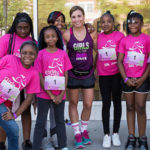 Tina Jones (third from left, top row) with one of her teams of Girls on the Run.