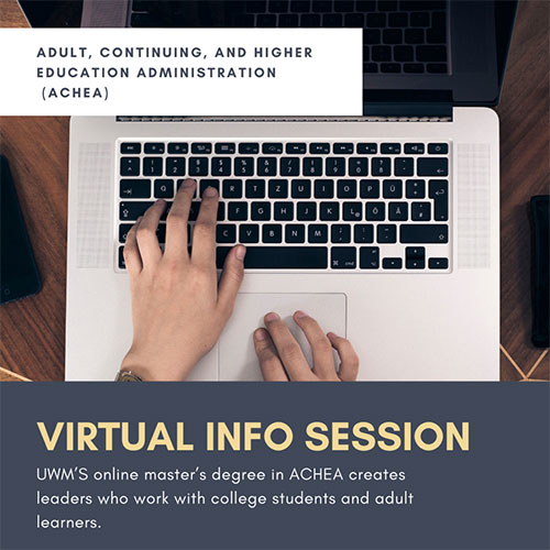 ACHEA virtual information session flyer.