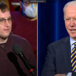Justin Belot, a School of Education alum was one of a group of people invited to take part in the CNN Town Hall in Milwaukee with President Joe Biden on Feb. 17.