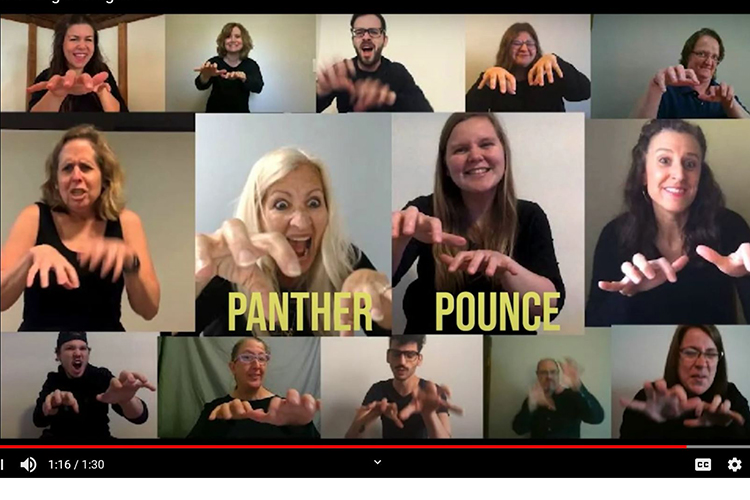 """American Sign Language Studies instructors and staff created a """"percussion song"""" using the UWM Panther fight song as one way to engage students."""