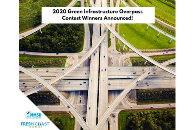2020 Green Infrastructure Overpass art-multiple highways