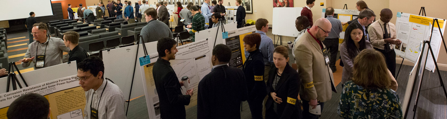 Overhead of busy Student Research Poster Competition in progress