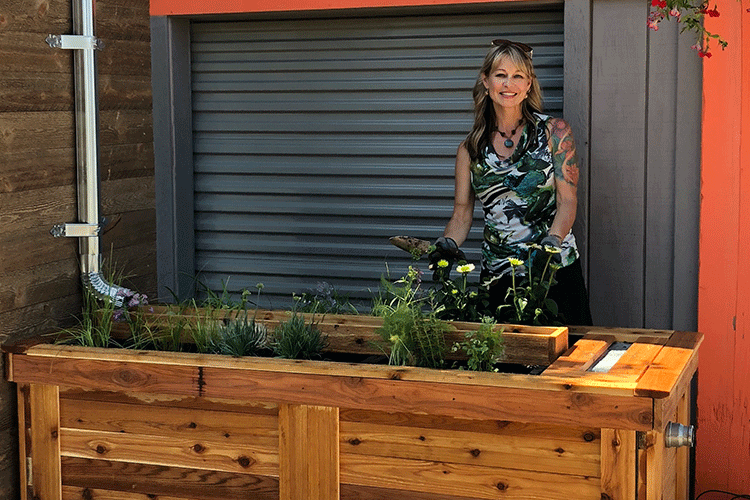 Carrie Bristoll-Groll with plants