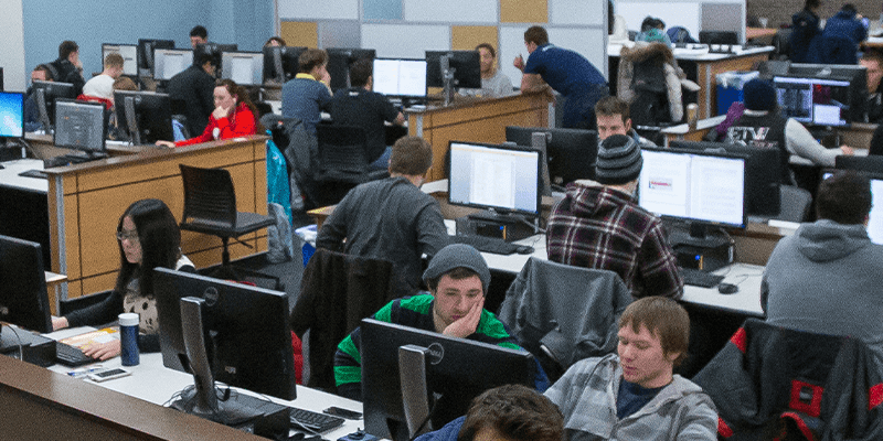 30 students in a computer lab