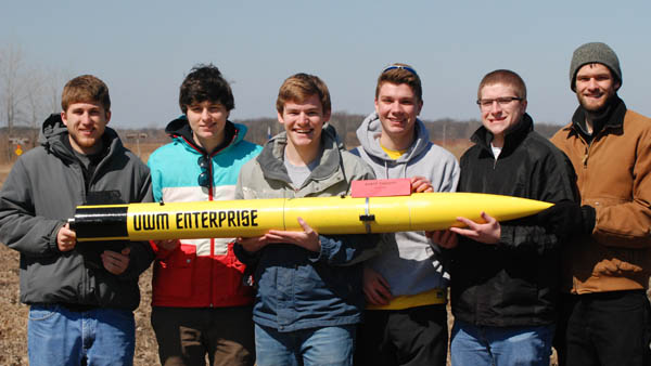 Members of the American Society of Mechanical Engineers (ASME) chapter from UWM participated in the Wisconsin Space Grant Consortium (WSGC) 2014 Collegiate High-Powered Rocketry Competition this past weekend.