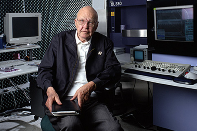 Jack Kilby co-discovered the integrated circuit, better known as the microchip, earning him a share of the Nobel Prize. (Photo courtesy/Texas Instruments)