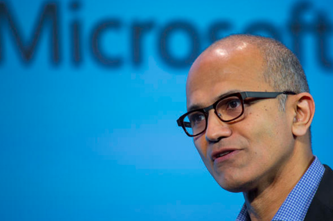 Satya Nadella is only the third CEO in the history of Microsoft. (Microsoft photo)