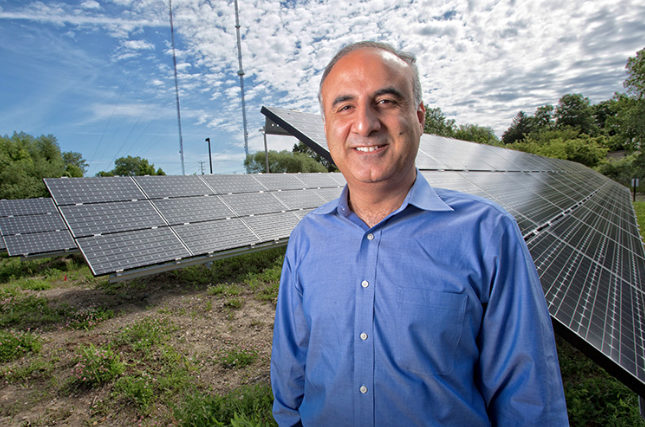 Adel Nasiri is helping to bring microgrids to the market. (UWM Photo/Troye Fox)