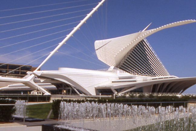 Santiago Calatrava designed the Milwaukee Art Museum's famous wings – UWM-trained engineers made sure they worked. (Photo courtesy/Graef-USA)
