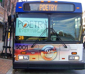 UWM-produced poetry films air on city buses in Milwaukee and transit systems nationwide. Photo credit: Christi Clancy