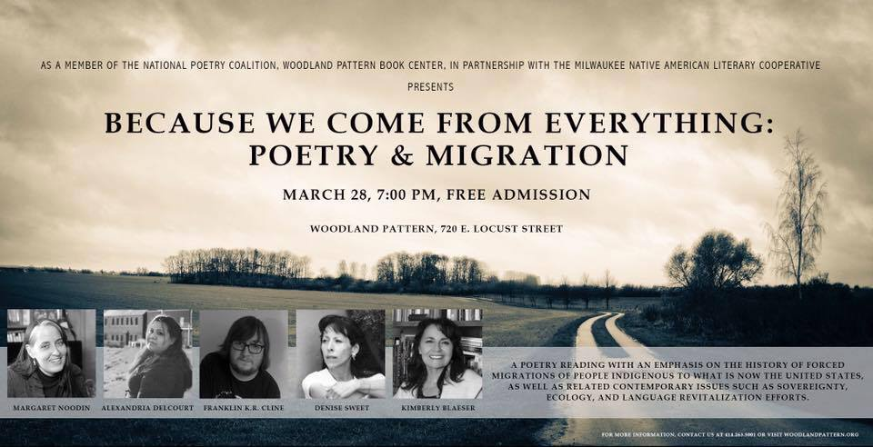 National Poetry Coalition Reading Event March 28 Because We Come