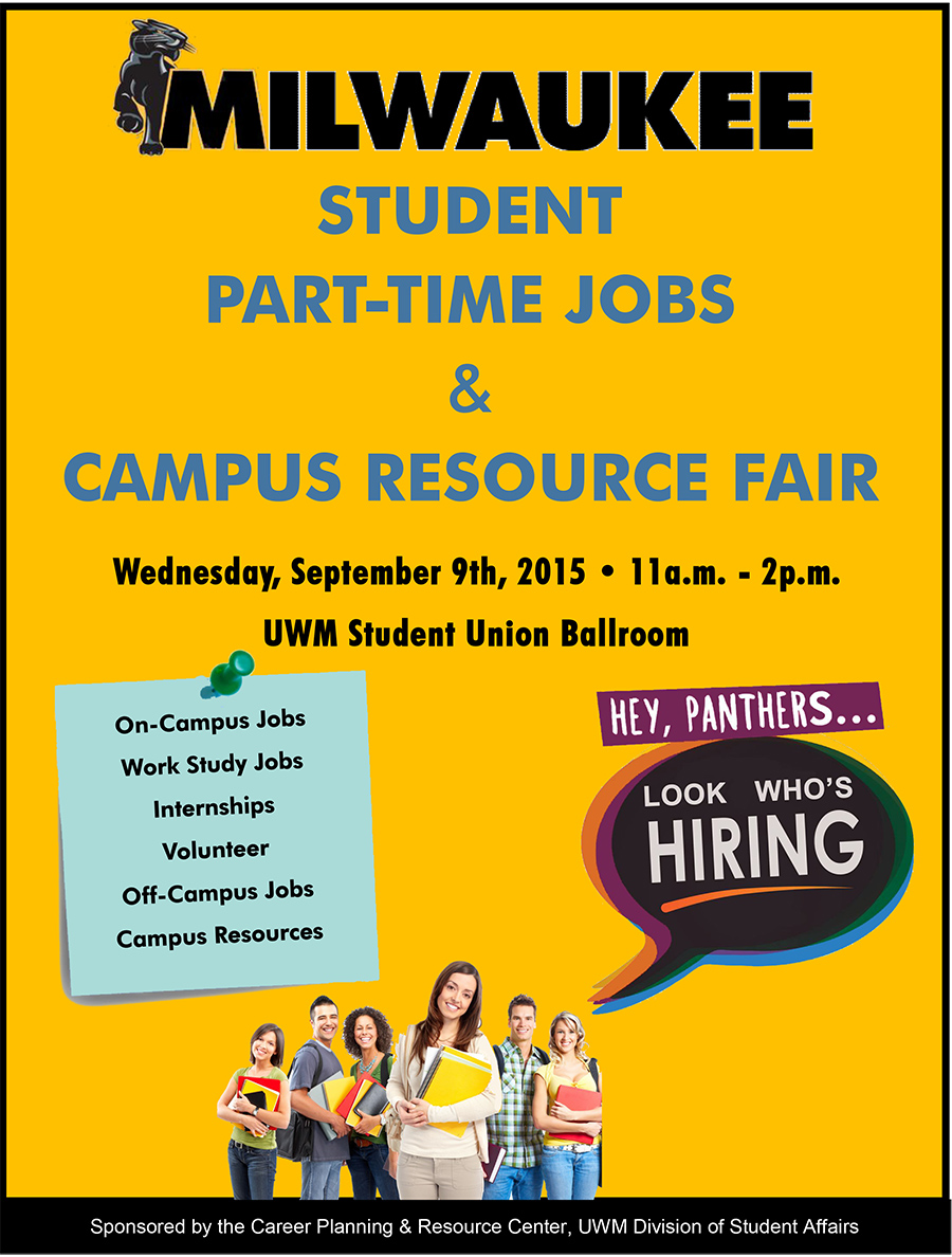 Part Time Jobs And Campus Resource Fair Panther Families