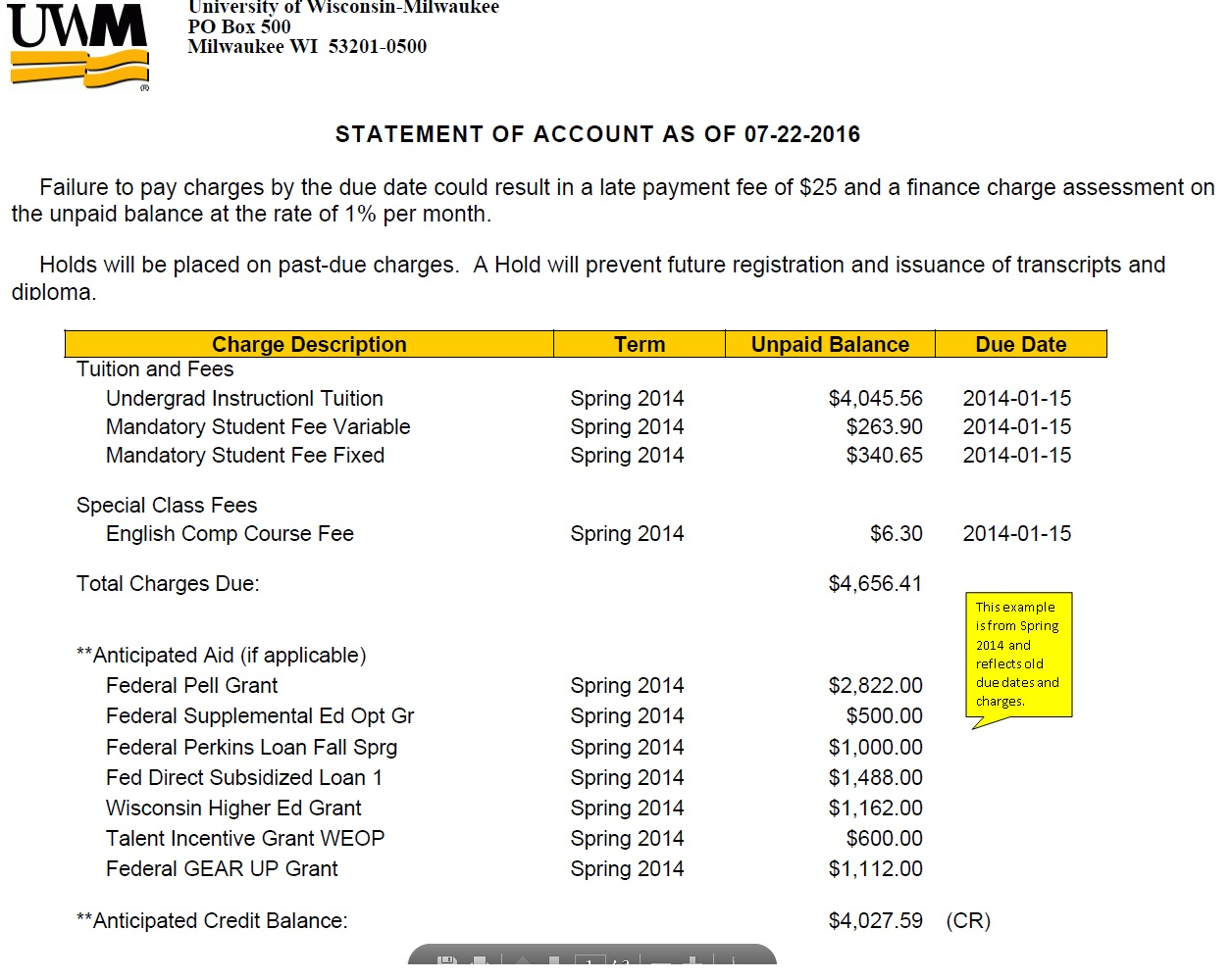 Uwm Financial Aid >> Fall Faqs Financial Aid