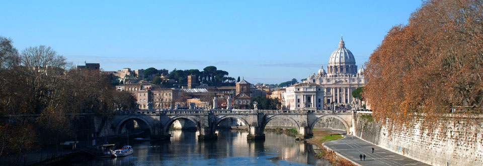 Ponte Sant'Angelo and St. Peter's Basilica