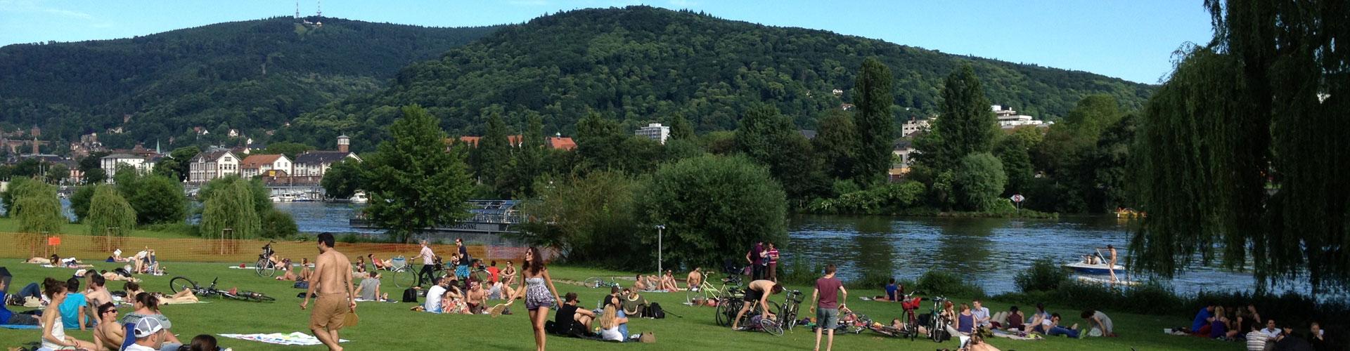 German park along river