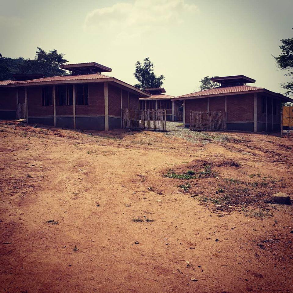 Examples of village school buildings near Accra
