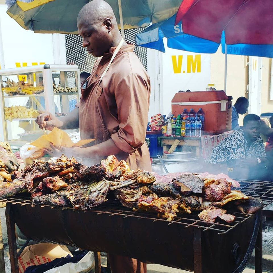 Mixed grill on the streets of Accra