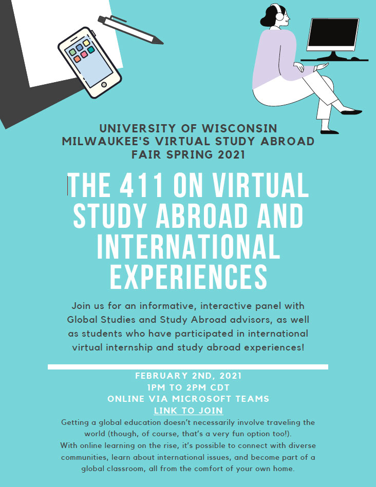 Flyer for Study Abroad Fair. Same info as in description.
