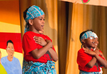 Children involved in the arts