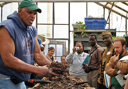At Growing Power Community Food Center, Will Allen talks on making good compost