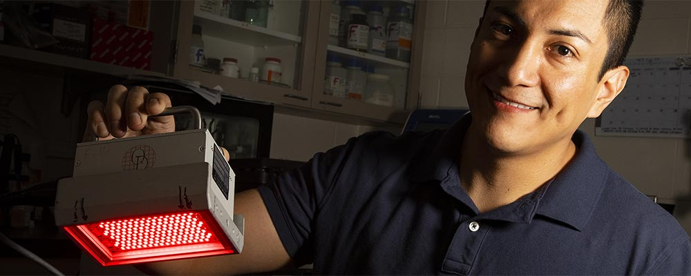 Miguel Tolentino is testing how effective infrared light can be as a treatment for symptoms of multiple sclerosis, or MS.