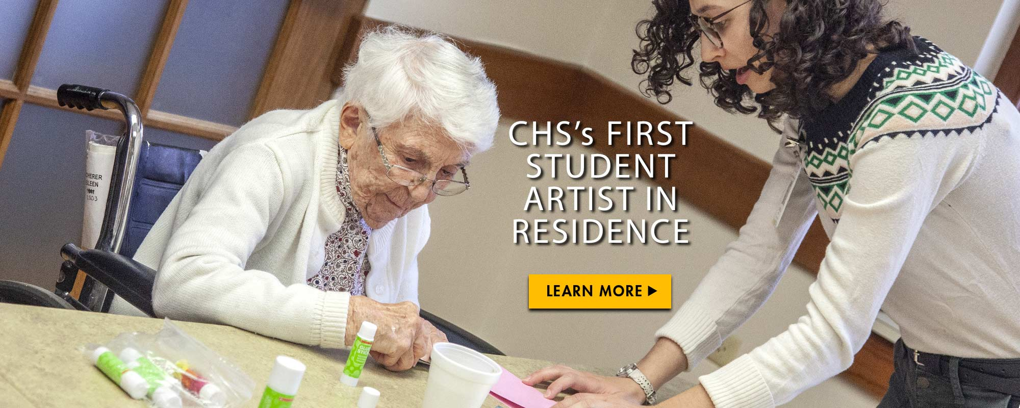 CHS's first student artist in residence. Learn more.