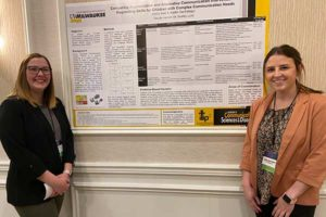 Emily Kies and Kaitlin Sanfelippo presented a research poster at the WSHA annual conference.