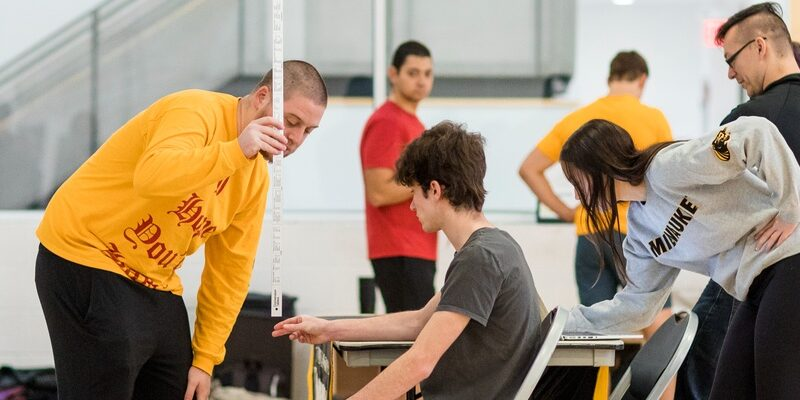 Reflex testing at the Skill Test Fest.