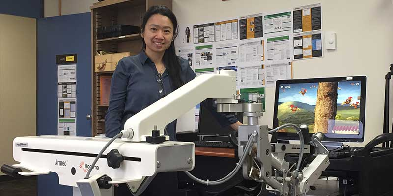 Professor Wang in the Rehabilitation Outcomes Research Lab
