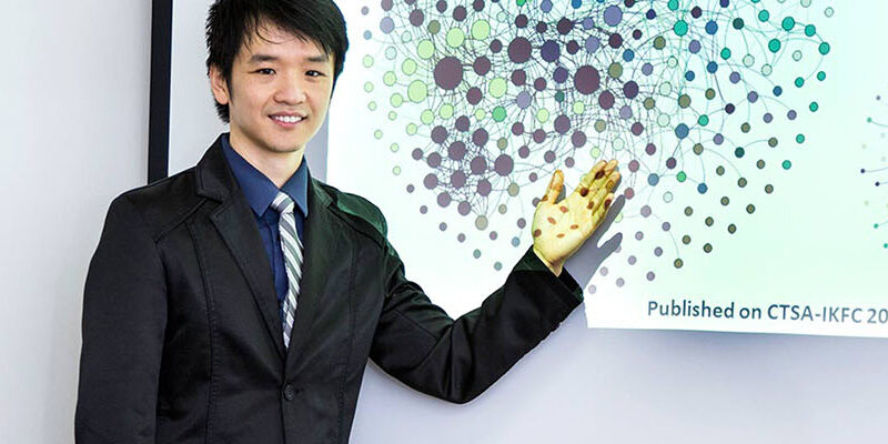 Student presenting on health care informatics