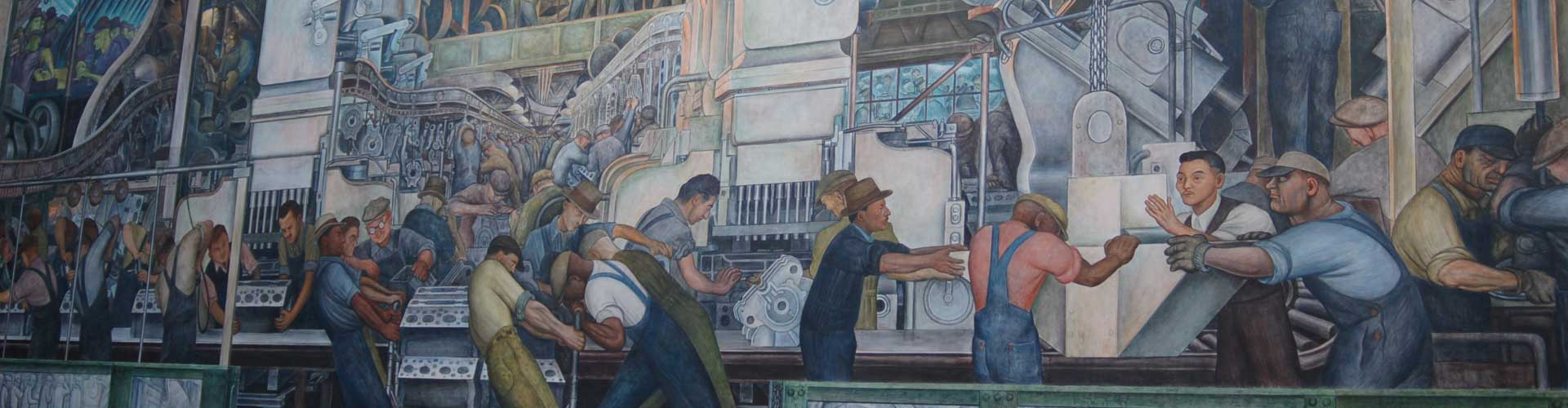 Factory Worker Mural Banner