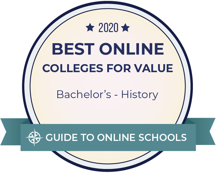 2020 Best Online Colleges for Value - Bachelor's History