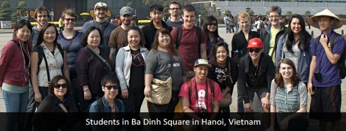 Ba Dinh Square in Hanoi, Vietnam