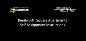 Kenilworth Square Apartments Self Assignment Instructions Video Screenshot